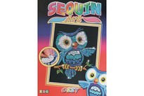 HOBBY2YOU Sequin Art Ozzy Owl 25x34cm