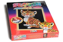 HOBBY2YOU Sequin Art Tia Tiger 25x34cm