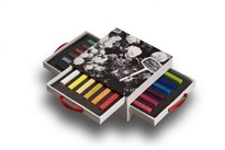 ARTMAX Blue Box 3 Drawers 18 Colour Crayon