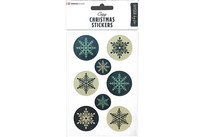 HOBBY2YOU Modern Christmas Stickers Snowflakes