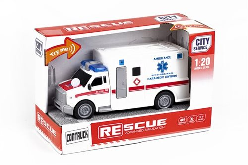 Contruck Ambulance Med Lys, Lyd & Try Me 1:20