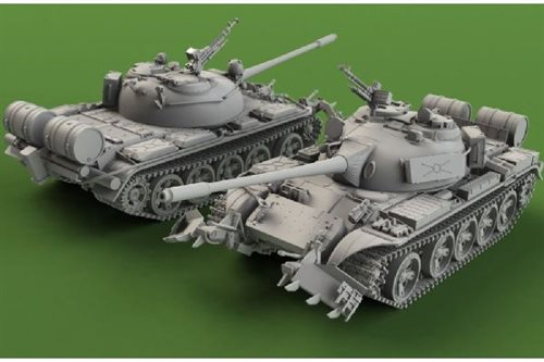 Revell battle tank T-55A/AM with KMT-6/EMT-5