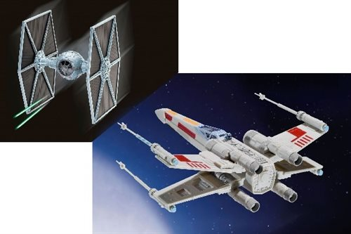 1:57 1:65 Gift Set X-Wing Fighter + TIE Fighter