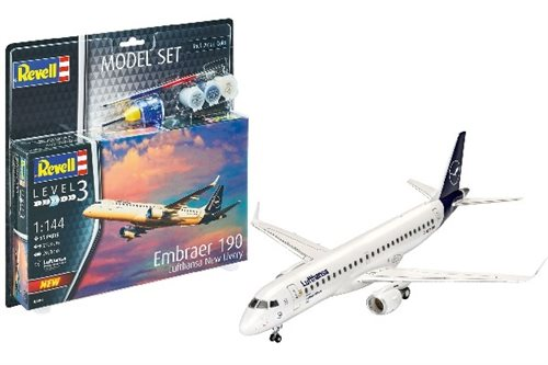 1:144 Model Set Embraer 190 Lufthansa