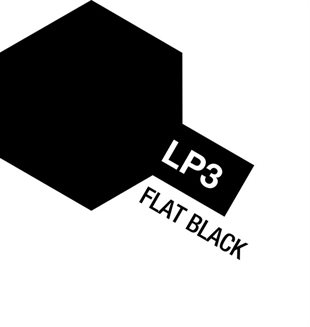 Tamiya Lacquer Paint LP-3 Flat Black