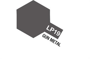 Tamiya Lacquer Paint LP-19 Gun Metal