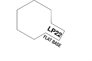 Tamiya Lacquer Paint LP-22 Flat Base