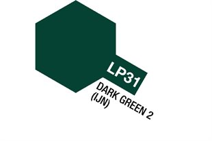 Tamiya Lacquer Paint LP-31 Dark Green 2 (IJN)
