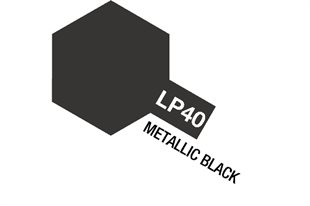 Tamiya Lacquer Paint LP-40 Metallic Black