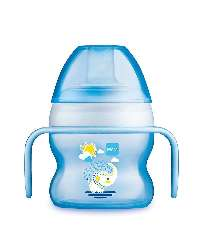 MAM Starter Cup Animal Sutteflaske 150 ml Blå, Transparent